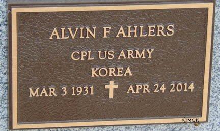 AHLERS, ALVIN F. - Minnehaha County, South Dakota | ALVIN F. AHLERS - South Dakota Gravestone Photos