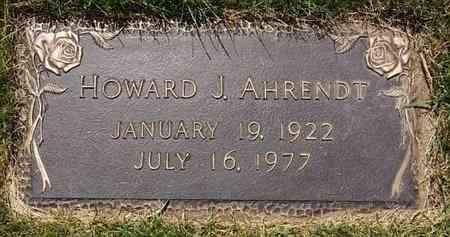 AHRENDT, HOWARD J - Minnehaha County, South Dakota | HOWARD J AHRENDT - South Dakota Gravestone Photos
