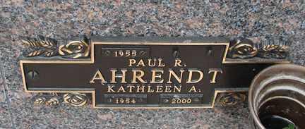 AHRENDT, KATHLEEN A. - Minnehaha County, South Dakota   KATHLEEN A. AHRENDT - South Dakota Gravestone Photos