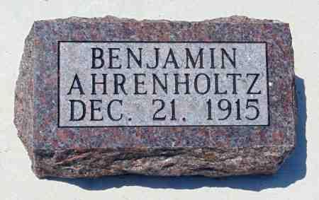 AHRENHOLTZ, BENJAMIN - Minnehaha County, South Dakota | BENJAMIN AHRENHOLTZ - South Dakota Gravestone Photos