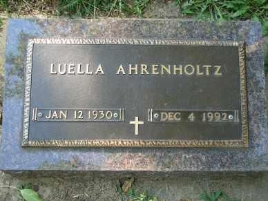 AHRENHOLTZ, LUELLA - Minnehaha County, South Dakota | LUELLA AHRENHOLTZ - South Dakota Gravestone Photos