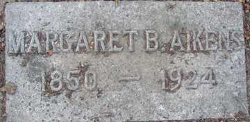 AIKENS, MARGARET B. - Minnehaha County, South Dakota | MARGARET B. AIKENS - South Dakota Gravestone Photos