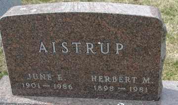 AISTRUP, JUNE  E. - Minnehaha County, South Dakota | JUNE  E. AISTRUP - South Dakota Gravestone Photos