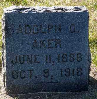 AKER, ADOLPH G. - Minnehaha County, South Dakota | ADOLPH G. AKER - South Dakota Gravestone Photos
