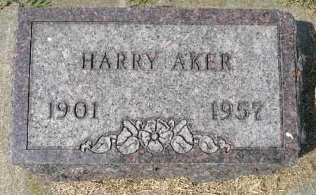 AKER, HARRY - Minnehaha County, South Dakota | HARRY AKER - South Dakota Gravestone Photos