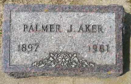 AKER, PALMER J. - Minnehaha County, South Dakota   PALMER J. AKER - South Dakota Gravestone Photos
