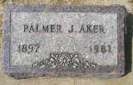 AKER, PALMER J. - Minnehaha County, South Dakota | PALMER J. AKER - South Dakota Gravestone Photos