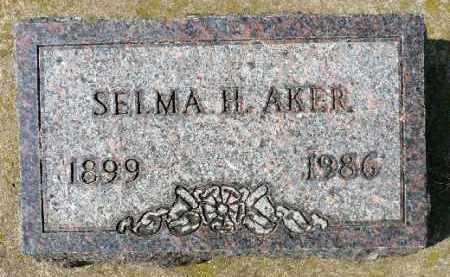 AKER, SELMA H. - Minnehaha County, South Dakota   SELMA H. AKER - South Dakota Gravestone Photos