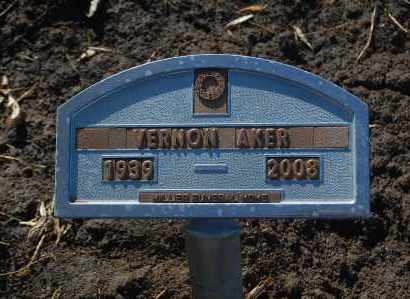AKER, VERNON - Minnehaha County, South Dakota | VERNON AKER - South Dakota Gravestone Photos