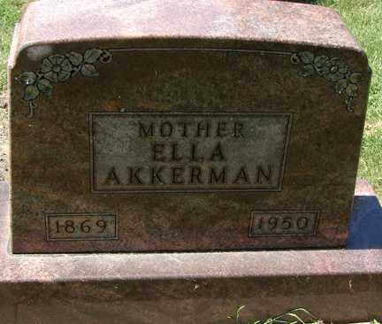 AKKERMAN, ELLA - Minnehaha County, South Dakota   ELLA AKKERMAN - South Dakota Gravestone Photos