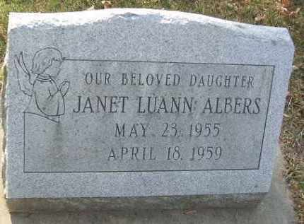 ALBERS, JANET LUANN - Minnehaha County, South Dakota | JANET LUANN ALBERS - South Dakota Gravestone Photos