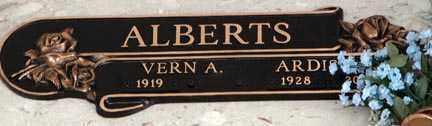 ALBERTS, VERN A. - Minnehaha County, South Dakota | VERN A. ALBERTS - South Dakota Gravestone Photos