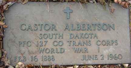 ALBERTSON, CASTOR - Minnehaha County, South Dakota | CASTOR ALBERTSON - South Dakota Gravestone Photos