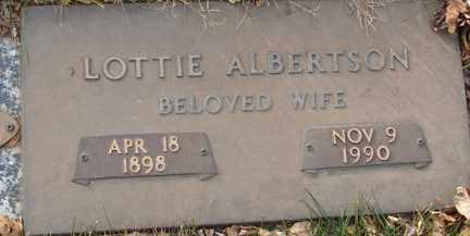 ALBERTSON, LOTTIE - Minnehaha County, South Dakota   LOTTIE ALBERTSON - South Dakota Gravestone Photos