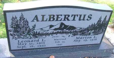 ALBERTUS, MARION L. - Minnehaha County, South Dakota | MARION L. ALBERTUS - South Dakota Gravestone Photos