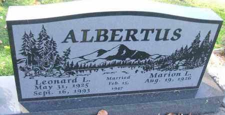 ALBERTUS, MARION L. - Minnehaha County, South Dakota | MARION L. ALBERTUS - South Dakota Gravestone Photos