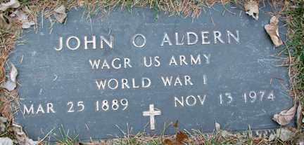 ALDERN, JOHN O. (WWI) - Minnehaha County, South Dakota | JOHN O. (WWI) ALDERN - South Dakota Gravestone Photos