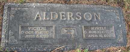 ALDERSON, MYRTLE - Minnehaha County, South Dakota | MYRTLE ALDERSON - South Dakota Gravestone Photos