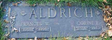 ALDRICH, FRANCES W. - Minnehaha County, South Dakota   FRANCES W. ALDRICH - South Dakota Gravestone Photos