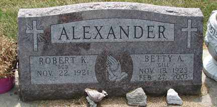 ALEXANDER, ROBERT K. - Minnehaha County, South Dakota | ROBERT K. ALEXANDER - South Dakota Gravestone Photos