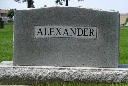 ALEXANDER, FAMILY MARKER - Minnehaha County, South Dakota | FAMILY MARKER ALEXANDER - South Dakota Gravestone Photos