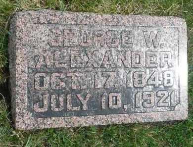 ALEXANDER, GEORGE W. - Minnehaha County, South Dakota | GEORGE W. ALEXANDER - South Dakota Gravestone Photos