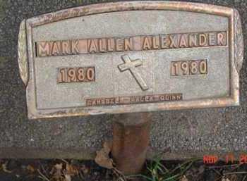 ALEXANDER, MARK ALLEN - Minnehaha County, South Dakota | MARK ALLEN ALEXANDER - South Dakota Gravestone Photos