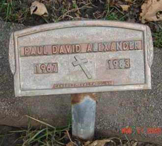 ALEXANDER, PAUL DAVID - Minnehaha County, South Dakota | PAUL DAVID ALEXANDER - South Dakota Gravestone Photos