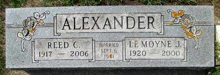 ALEXANDER, REED CARSON - Minnehaha County, South Dakota | REED CARSON ALEXANDER - South Dakota Gravestone Photos