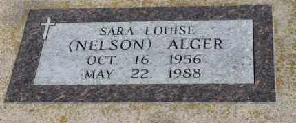 ALGER, SARA LOUISE - Minnehaha County, South Dakota | SARA LOUISE ALGER - South Dakota Gravestone Photos
