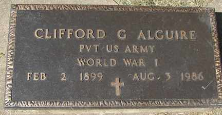 ALGUIRE, CLIFFORD G. (WWI) - Minnehaha County, South Dakota | CLIFFORD G. (WWI) ALGUIRE - South Dakota Gravestone Photos