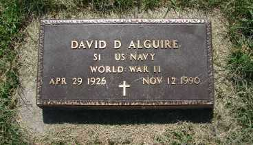 ALGUIRE, DAVID D. - Minnehaha County, South Dakota | DAVID D. ALGUIRE - South Dakota Gravestone Photos