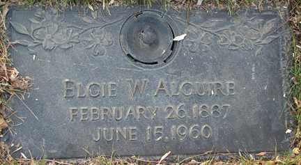 ALGUIRE, ELGIE W. - Minnehaha County, South Dakota | ELGIE W. ALGUIRE - South Dakota Gravestone Photos