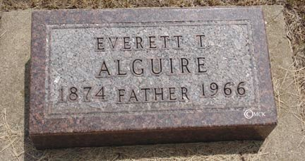 ALGUIRE, EVERETT T. - Minnehaha County, South Dakota | EVERETT T. ALGUIRE - South Dakota Gravestone Photos