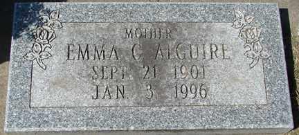 ALGUIRE, EMMA C. - Minnehaha County, South Dakota | EMMA C. ALGUIRE - South Dakota Gravestone Photos