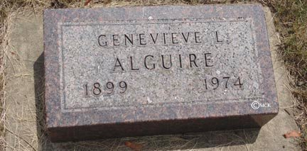 ALGUIRE, GENEVIEVE L. - Minnehaha County, South Dakota | GENEVIEVE L. ALGUIRE - South Dakota Gravestone Photos