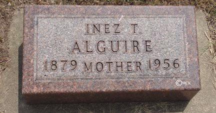ALGUIRE, INEZ T. - Minnehaha County, South Dakota   INEZ T. ALGUIRE - South Dakota Gravestone Photos