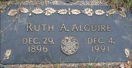 ALGUIRE, RUTH A. - Minnehaha County, South Dakota | RUTH A. ALGUIRE - South Dakota Gravestone Photos