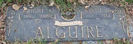ALGUIRE, MYRTLE D. - Minnehaha County, South Dakota | MYRTLE D. ALGUIRE - South Dakota Gravestone Photos