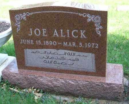 ALICK, JOE - Minnehaha County, South Dakota   JOE ALICK - South Dakota Gravestone Photos