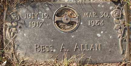 ALLAN, BESS A. - Minnehaha County, South Dakota | BESS A. ALLAN - South Dakota Gravestone Photos