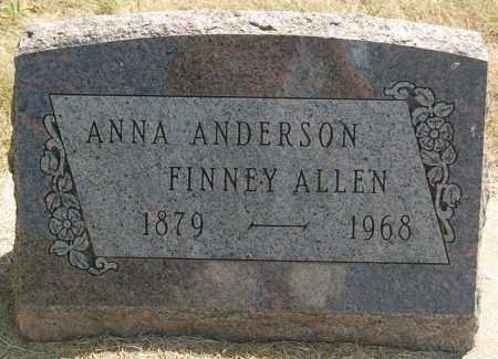 ALLEN, ANNA - Minnehaha County, South Dakota   ANNA ALLEN - South Dakota Gravestone Photos