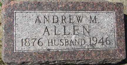 ALLEN, ANDREW M. - Minnehaha County, South Dakota | ANDREW M. ALLEN - South Dakota Gravestone Photos