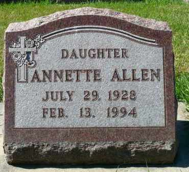 ALLEN, ANNETTE - Minnehaha County, South Dakota | ANNETTE ALLEN - South Dakota Gravestone Photos