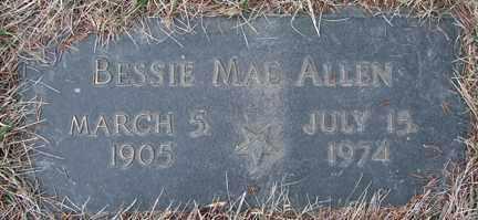 ALLEN, BESSIE MAE - Minnehaha County, South Dakota   BESSIE MAE ALLEN - South Dakota Gravestone Photos