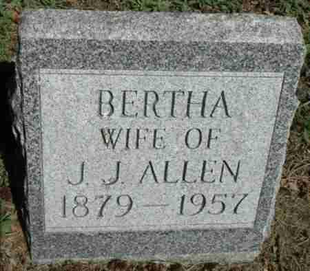 ALLEN, BERTHA - Minnehaha County, South Dakota | BERTHA ALLEN - South Dakota Gravestone Photos