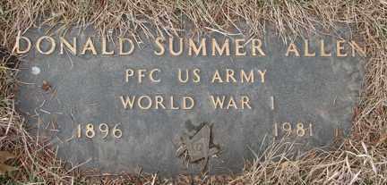 ALLEN, DONALD SUMMER - Minnehaha County, South Dakota   DONALD SUMMER ALLEN - South Dakota Gravestone Photos