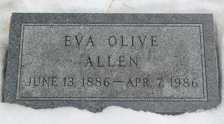 ALLEN, EVA OLIVE - Minnehaha County, South Dakota | EVA OLIVE ALLEN - South Dakota Gravestone Photos