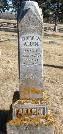 ALLEN, EDGAR W. - Minnehaha County, South Dakota | EDGAR W. ALLEN - South Dakota Gravestone Photos
