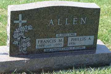 ALLEN, PHILLIS A. - Minnehaha County, South Dakota | PHILLIS A. ALLEN - South Dakota Gravestone Photos